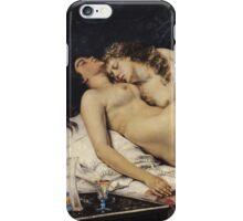Vintage famous art - Gustave Courbet - Le Sommeil iPhone Case/Skin