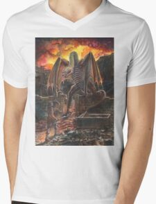 Saurian Sanctuary Mens V-Neck T-Shirt