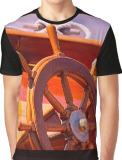 Wooden Wheel Graphic T-Shirt
