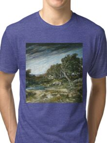 Vintage famous art - Gustave Courbet - The Gust Of Wind,  1865 Tri-blend T-Shirt