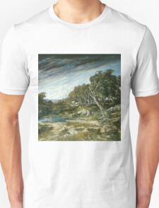 Vintage famous art - Gustave Courbet - The Gust Of Wind,  1865 Unisex T-Shirt