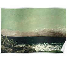 Vintage famous art - Gustave Courbet - The Mediterranean Poster