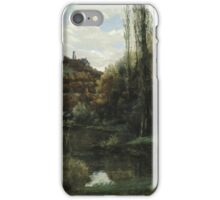 Vintage famous art - Gustave Courbet - The Mirror On The River Loue At Scey-En-Varais, Near Ornans iPhone Case/Skin