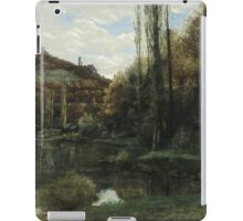 Vintage famous art - Gustave Courbet - The Mirror On The River Loue At Scey-En-Varais, Near Ornans iPad Case/Skin