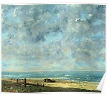 Vintage famous art - Gustave Courbet - The Sea Poster
