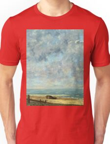 Vintage famous art - Gustave Courbet - The Sea Unisex T-Shirt