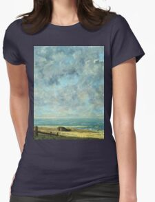 Vintage famous art - Gustave Courbet - The Sea Womens Fitted T-Shirt