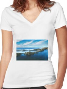 Waterscape Women's Fitted V-Neck T-Shirt
