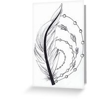 feather artwork Greeting Card