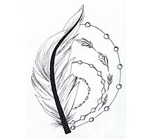 feather artwork Photographic Print