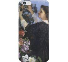 Vintage famous art - Gustave Courbet - The Trellis iPhone Case/Skin