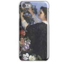 Vintage famous art - Gustave Courbet - The Trellis iPhone Case/Skin