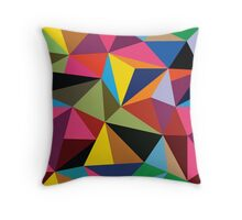 Modern Multicolored Triangle Abstract Throw Pillow