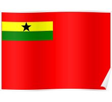 Ghana, West Africa, Civil Ensign Flag Poster