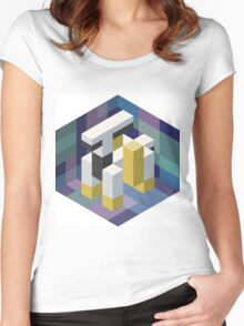 Arceus Voxel Women's Fitted Scoop T-Shirt