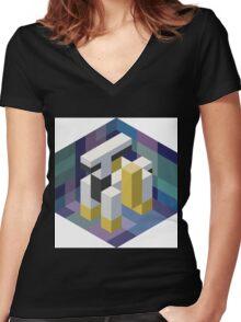 Arceus Voxel Women's Fitted V-Neck T-Shirt