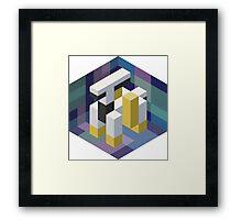 Arceus Voxel Framed Print