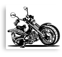 Cartoon Motorcycle Canvas Print