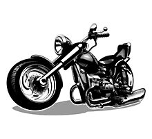 Cartoon Motorbike Photographic Print