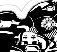 Cartoon Motorcycle Sticker
