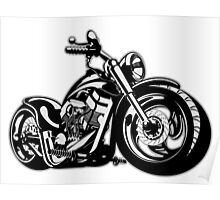 Cartoon Motorbike Poster