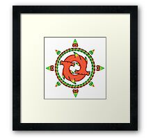 Shark Compass  Framed Print