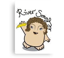 Dr Who River Song Adipose Canvas Print