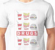 DRUGS FAST FOOD Unisex T-Shirt