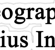 Geography Genius Inside  Sticker