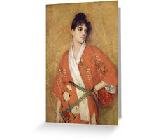 Vintage famous art - Gustave Courtois - Study Greeting Card