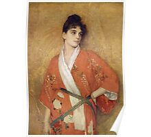 Vintage famous art - Gustave Courtois - Study Poster