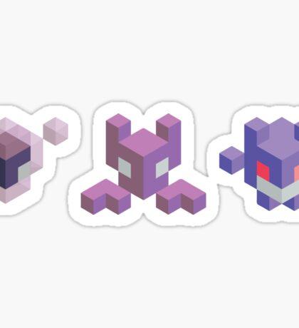 Ghastly Evolution Line, Pokemon Sticker