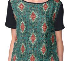 Luxury vintage royal floral pattern Chiffon Top