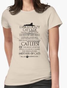 I am Catleesi Womens Fitted T-Shirt