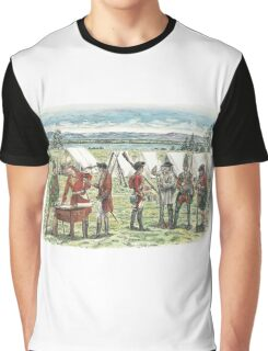 British Troops at the Battle of Quebec 1759 Graphic T-Shirt