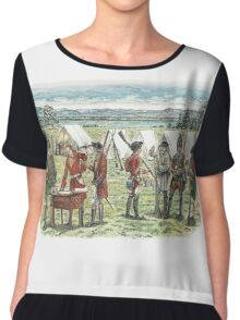 British Troops at the Battle of Quebec 1759 Chiffon Top