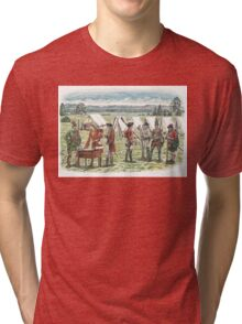 British Troops at the Battle of Quebec 1759 Tri-blend T-Shirt