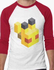 Pikachu Voxel Men's Baseball ¾ T-Shirt