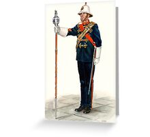 Royal Marines Drum Major Greeting Card