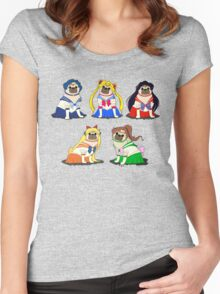 SAILOR PUGS! Women's Fitted Scoop T-Shirt