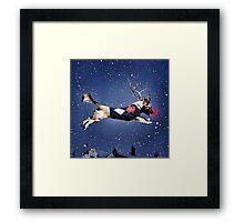 Reindeer Pup Framed Print