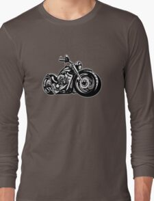 Cartoon Motorbike Long Sleeve T-Shirt