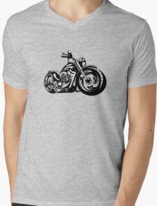 Cartoon Motorbike Mens V-Neck T-Shirt
