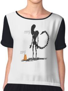 Alien Vs Jonesy Chiffon Top