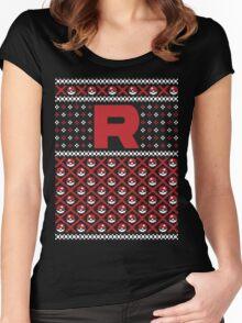 Team Rocket Sweater Women's Fitted Scoop T-Shirt