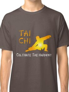 Tai Chi - Cultivate the Harmony (Black background) Classic T-Shirt
