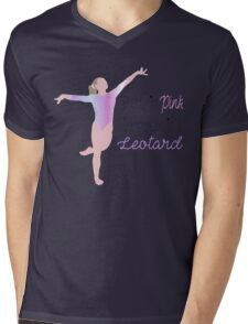 Pretty in Pink, Dangerous in a Leotard Mens V-Neck T-Shirt