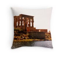 Philae temple Egypt Throw Pillow