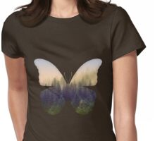 Butterfly Forest Womens Fitted T-Shirt