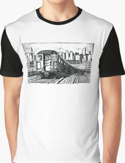 New York Subway Train Graphic T-Shirt
